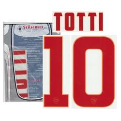 AS Roma 10 Totti nome e numero maglia away 2014/15