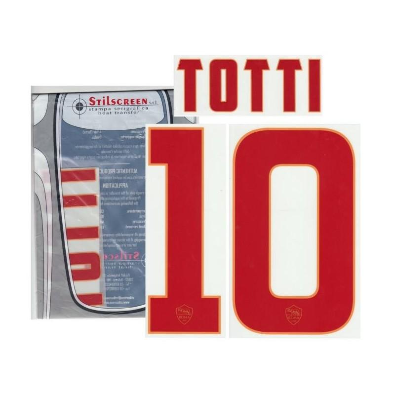 L'as Roma 10 Totti nom et le numéro du maillot extérieur 2014/15