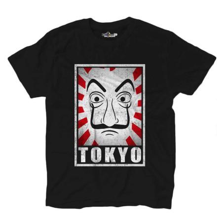 T-shirt mit Tokyo-tv-serie-Maske der professor