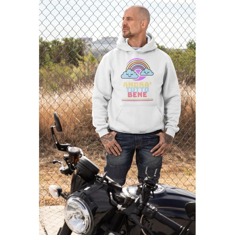 Sweatshirt mit kapuze, alles Wird gut bianca