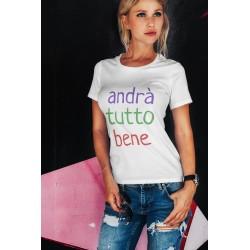 T-shirt tout sera beau, blanc