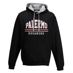 Palermo felpa con cappuccio nera Rosanero