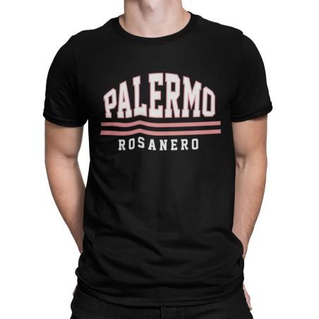 Palermo t-shirt nera Rosanero ultras tifosi