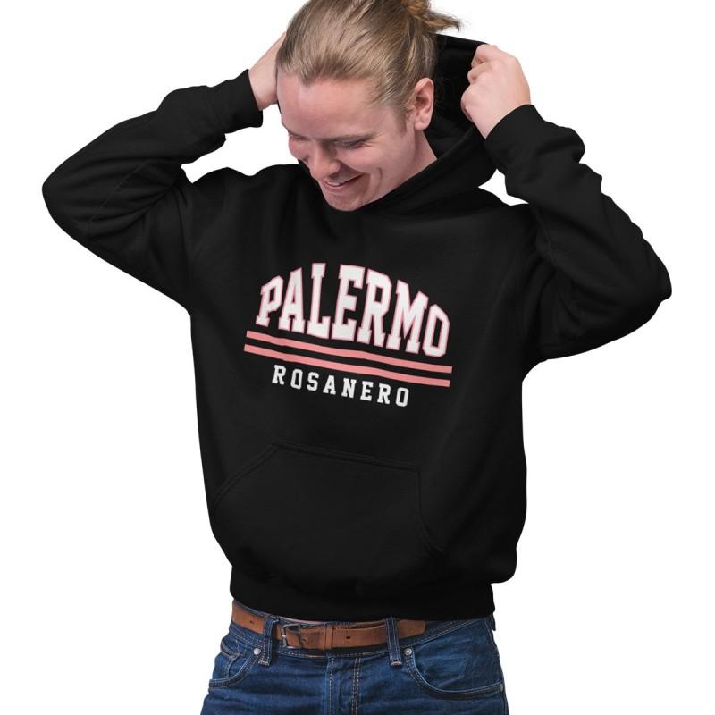 Palermo felpa con cappuccio nera tifosi Rosanero