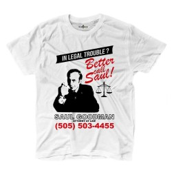 T-shirt Better Call Fiction Saul Serie Tv