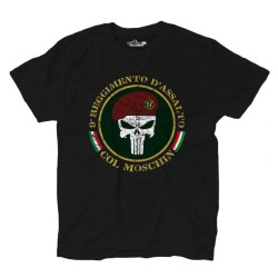 T-shirt Col Moschin Punisher 9 Reggimento d'assalto