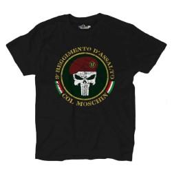T-shirt Col Moschin Punisher 9 Régiment d'assaut
