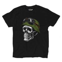 T-Shirt Teschio Militare Skull Guerra Mondiale Grunge