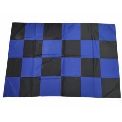 Black blue checkered flag 100x140cm 19 Scudetto