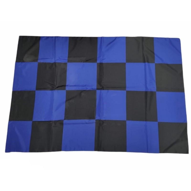 Bandiera nero azzurra a scacchi 100x140cm 19 Scudetto