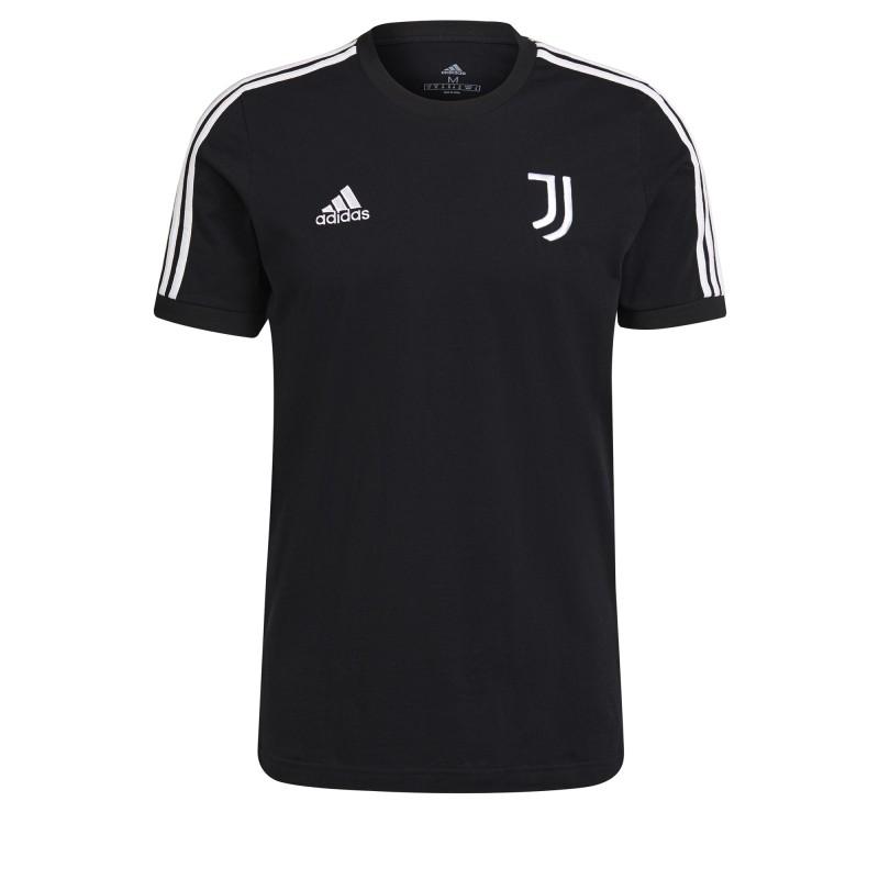 Juventus t-shirt 3 stripe nera 2021/22 Adidas