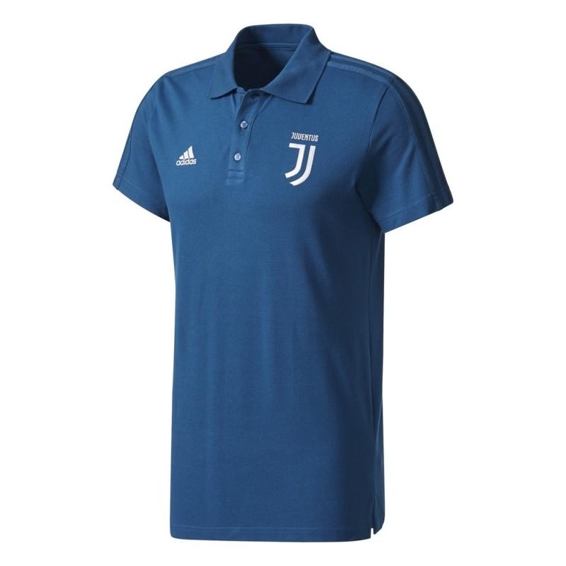 La Juventus polo 3S bleu 2017/18 Adidas