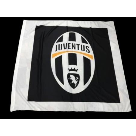 La Juventus logotipo de la bandera negra 150x140cm