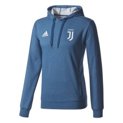 Juventus training sweatshirt with hood blue 2017/18 Adidas