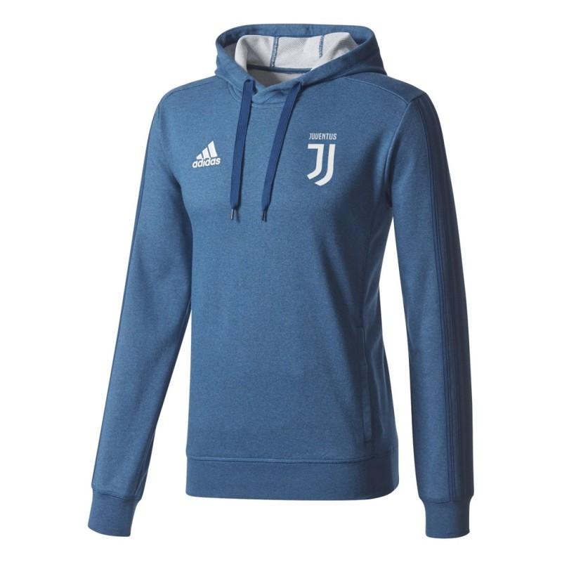 Juventus felpa allenamento con cappuccio blu 2017/18 Adidas