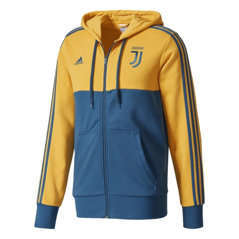 Sweat-shirt de la Juventus 3 Stripes hooded 2017/18 Adidas