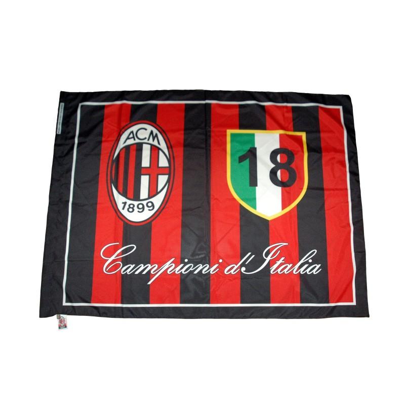 Milan flag 18 scudetto 140x180 cm official