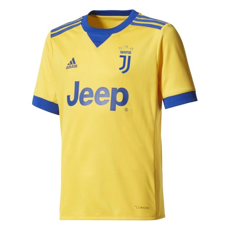 Juventus FC maglia away bambino gialla 2017/18 Adidas