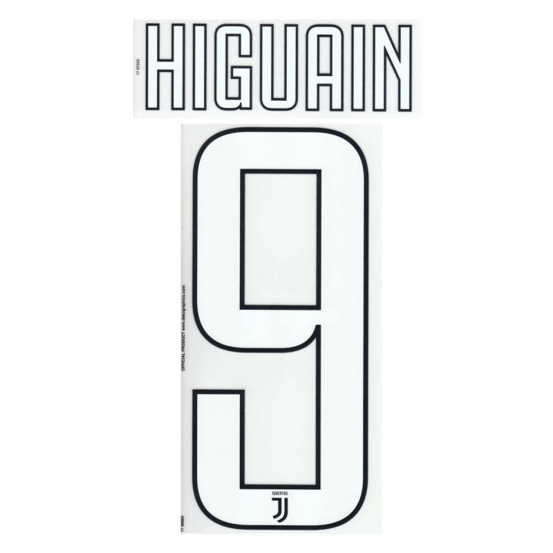 La Juventus 9 Higuain nom et le numéro du maillot domicile de troisième 2017/18