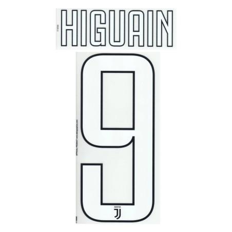 La Juventus 9 Higuaín nombre y número de casa camiseta tercera 2017/18
