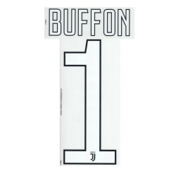 Juventus 1 Buffon's name and number goalkeeper shirt 2017/18