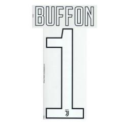 La Juventus 1 Buffon nom et le numéro de maillot de gardien de but 2017/18