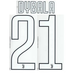 Juventus 21 Dybala name and number home shirt third 2017/18