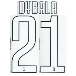 Juventus 21 Dybala nom et numéro du maillot domicile de troisième 2017/18