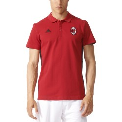 AC Milan polo 3 Stripes rossa 2016/17 Adidas