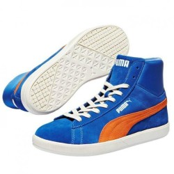 Chaussures Puma Archive lite Mid Suede bleu orange baskets