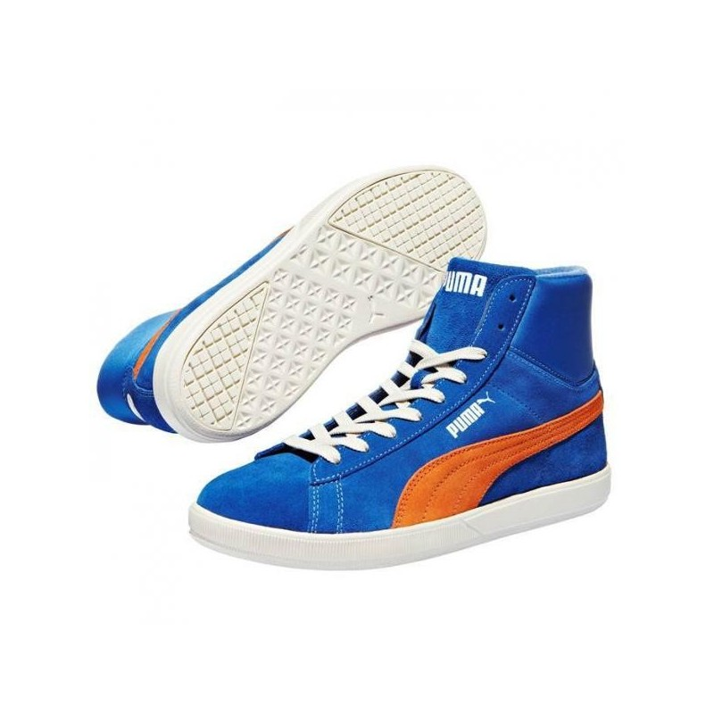 new concept 265e8 7cd77 Puma shoes Archive lite Mid Suede blue orange sneakers