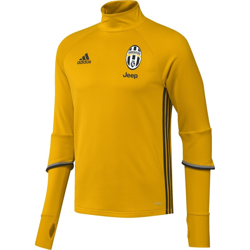La Juventus de formation sweat-shirt Jaune 2016/17 Adidas