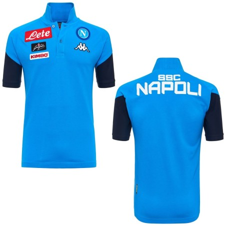 Le SSC Napoli polo représentation Angat bleu 2017/18 Kappa