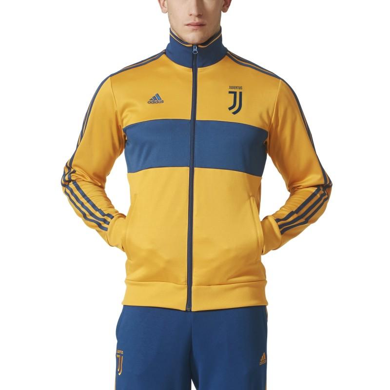 La Juventus sudadera parte Superior de la Pista 3 Rayas de color amarillo 2017/18 Adidas