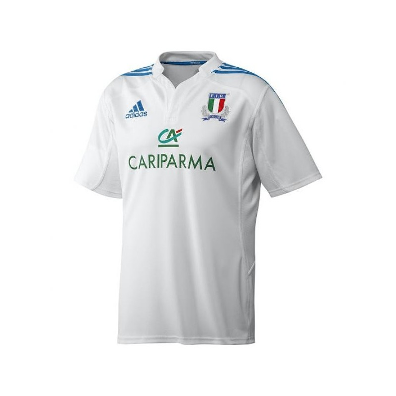 FIR Italy rugby jersey white Adidas