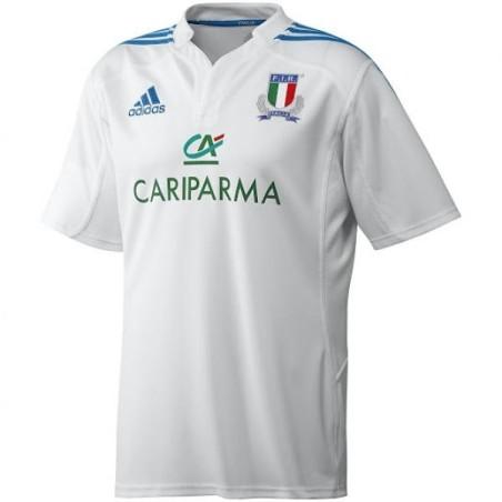 FIR Italia rugby maglia gara bianca Adidas