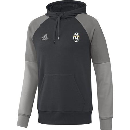 La Juventus sudadera de entrenamiento con capucha de color antracita 2016/17 Adidas