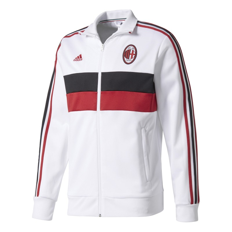 AC Milan sweatshirt Track Top 3 Stripes white 2017/18 Adidas