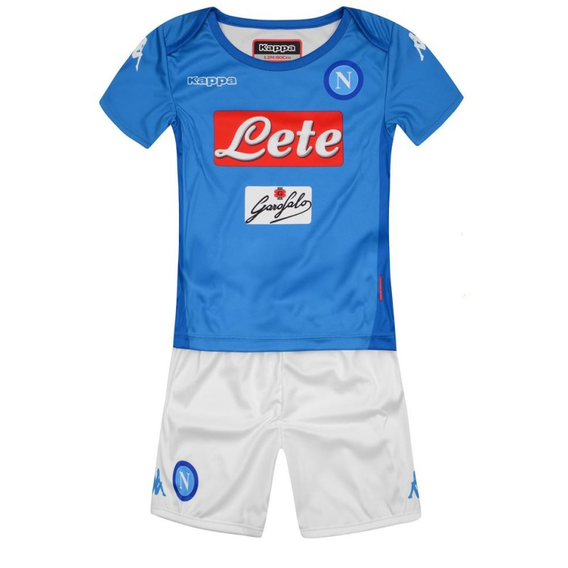 Naples jersey shorts home Baby newborn 2017/18 Kappa