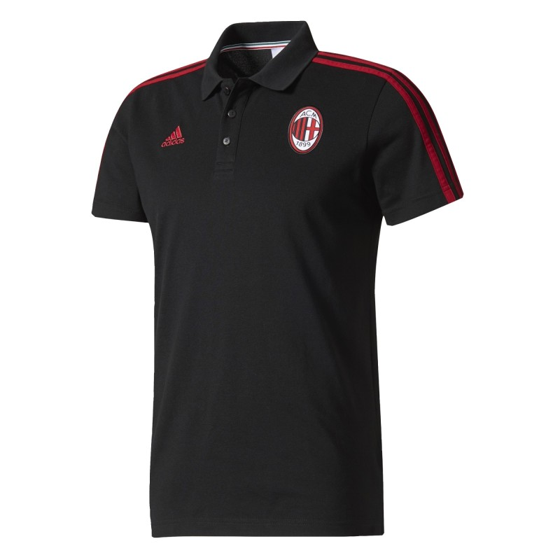 Milan polo 3 Stripes black 2017/18 Adidas