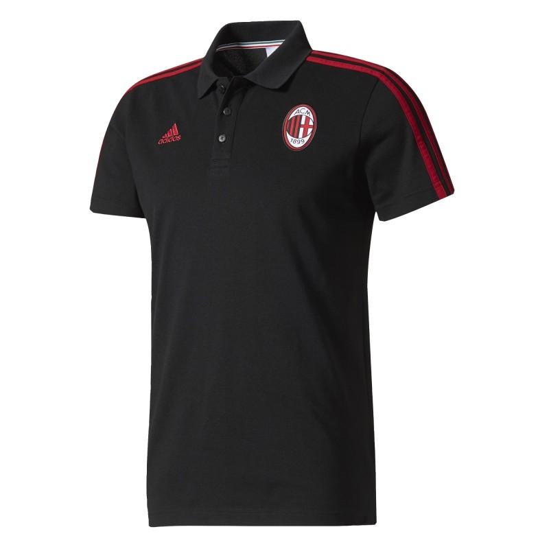Milan polo 3 Stripes nera 2017/18 Adidas