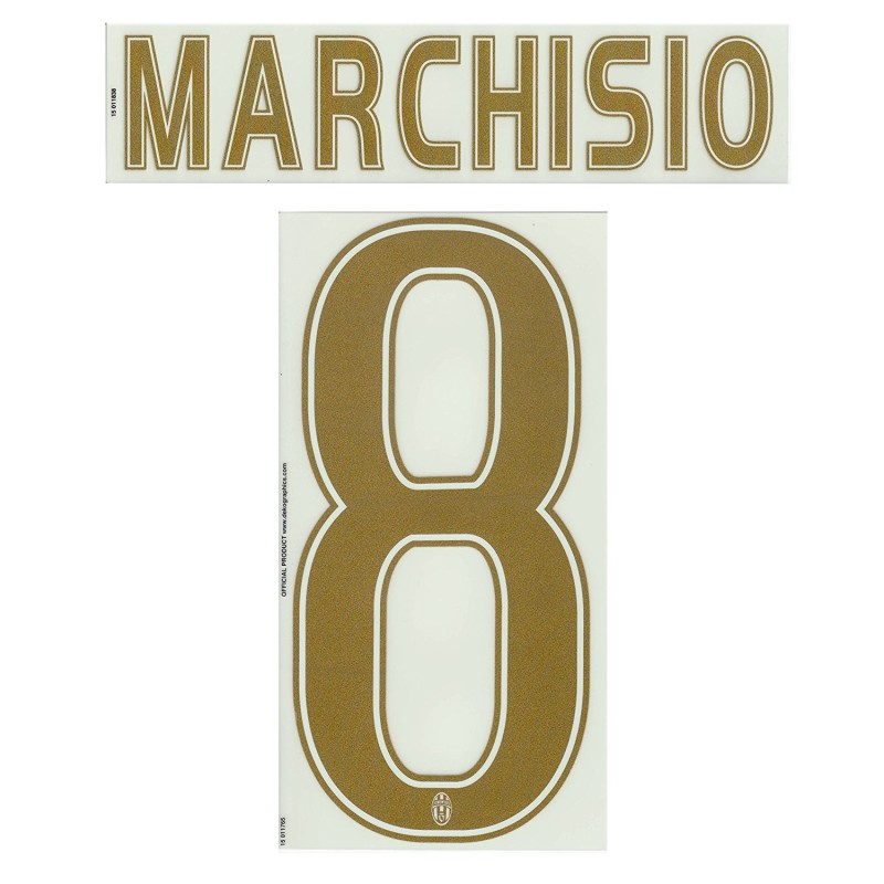 Juventus Marchisio 8 Name und Nummer auf Trikot Third 2015/16