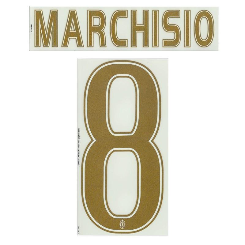 Juventus Marchisio 8 Nome e Numero Maglia Third 2015/16