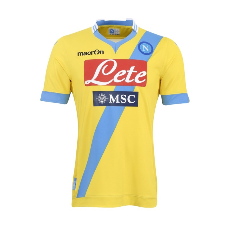 SSC Napoli jersey third 3rd yellow 2013/14 Macron