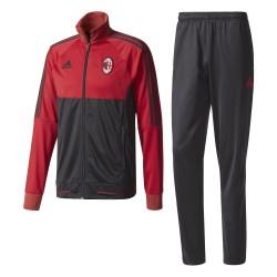 AC Milan tracksuit bench Red 2017/18 Adidas