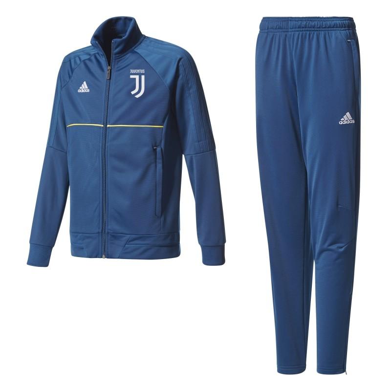 La Juventus de survêtement banc de bébé bleu 2017/18 Adidas