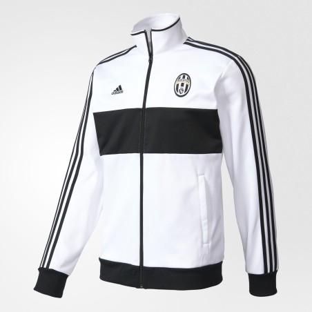 La Juventus sudadera parte Superior de la Pista 3 Rayas blancas Adidas