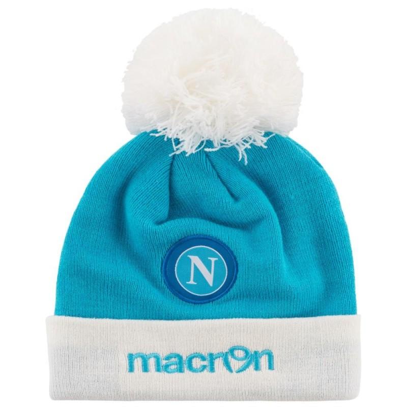 Le SSC Napoli hat Beanie bleu blanc Macron