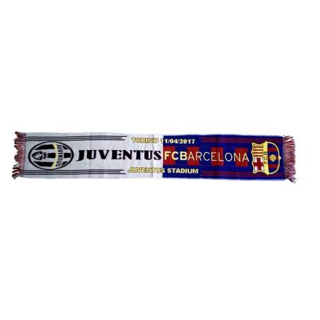 Juventus vs Barcelona scarf match UCL Champions League
