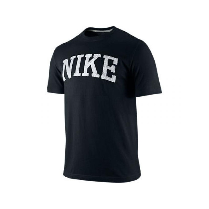 Nike t shirt swoosh logo black for Nike swoosh logo t shirt